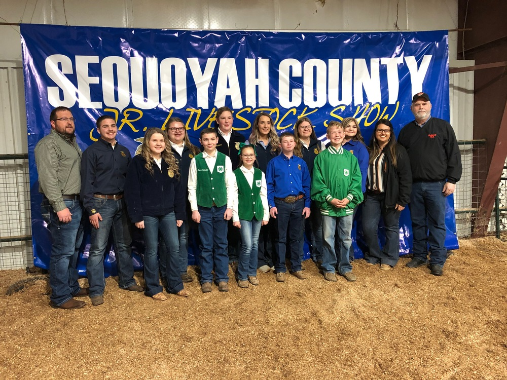 Roland Show Team at 55th Annual Sequoyah County Junior Livestock Show