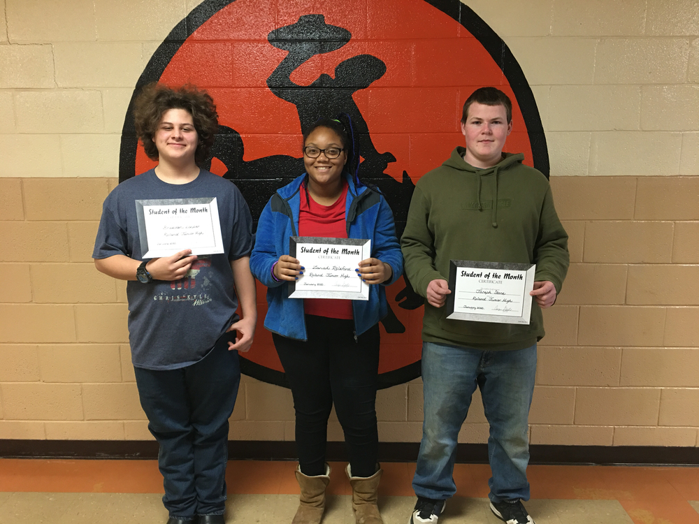JH January Students of the Month