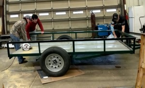 Ag Mechanics Students Re-Purpose Bleachers