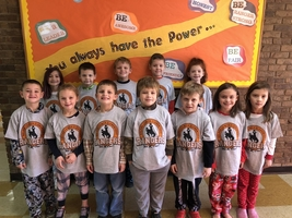 First Graders earn AR T-shirts