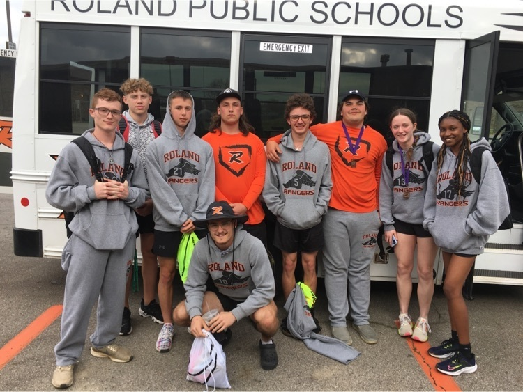 Roland High School Track & Field student athletes who placed top 6 in their events.