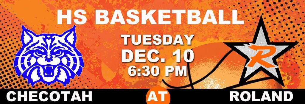 Roland Basketball game - Tuesday, December 10th, 6:30pm