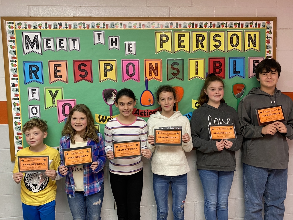 Upper Elementary Star Students for February